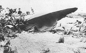 ロズウェルに墜落したUFOの写真