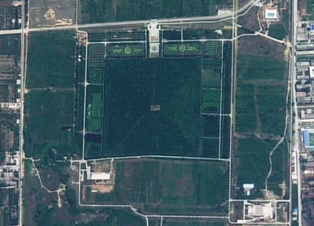 中国にあるピラミッドの画像