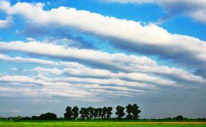 地震雲の画像
