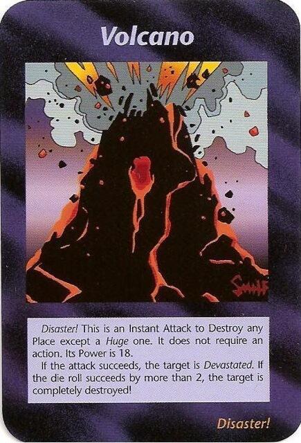 ボルケーノが描かれたイルミナティカードの画像