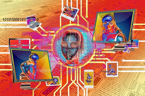 人工知能(AI)のイメージイラスト