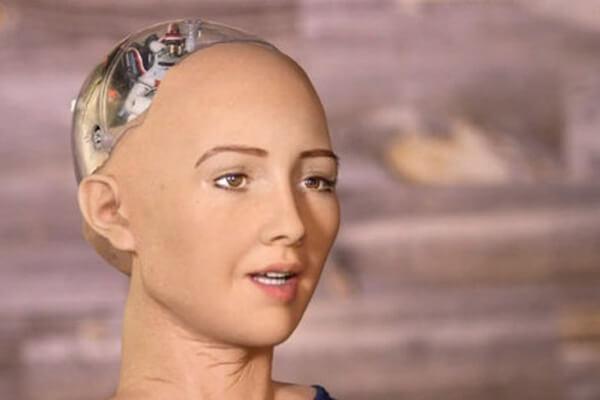 人工知能ソフィアの写真