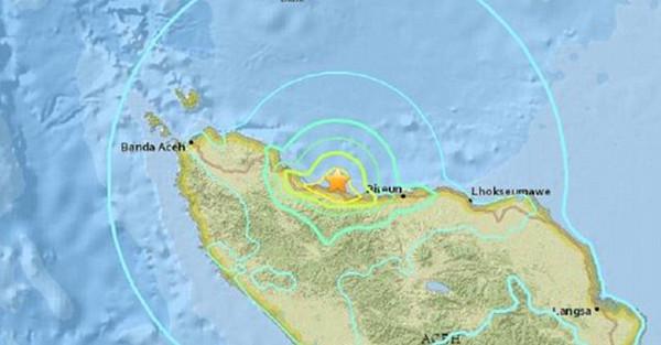 スマトラ地震の震源