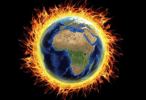 地球温暖化のイメージ図