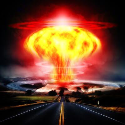 核爆発のイラスト画像