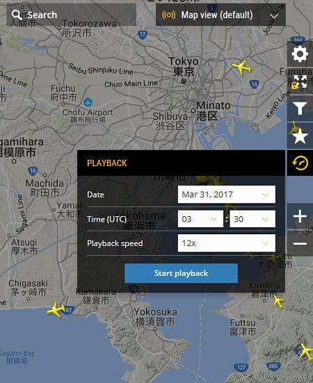 フライトレーダー24の画像