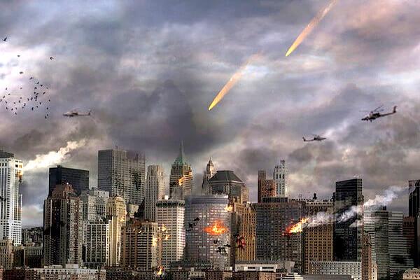 都市部での戦争イメージ画像