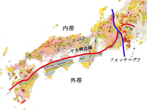中央構造線の画像