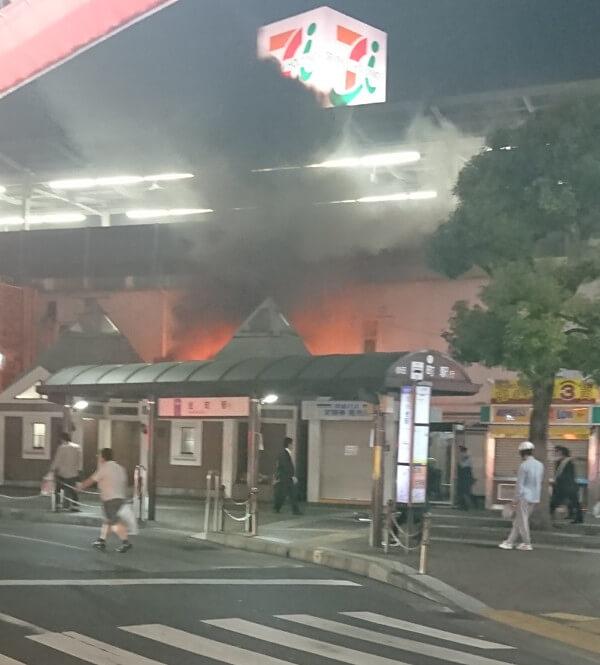 JR小岩駅で起きた火災の画像