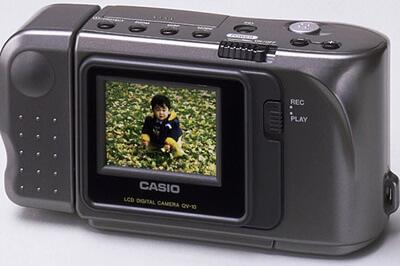 カシオ デジタルカメラ QV-10の画像