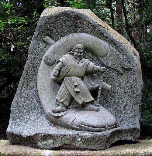 武甕槌大神の石の写真