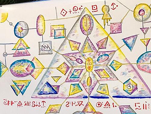 謎の文字の画像