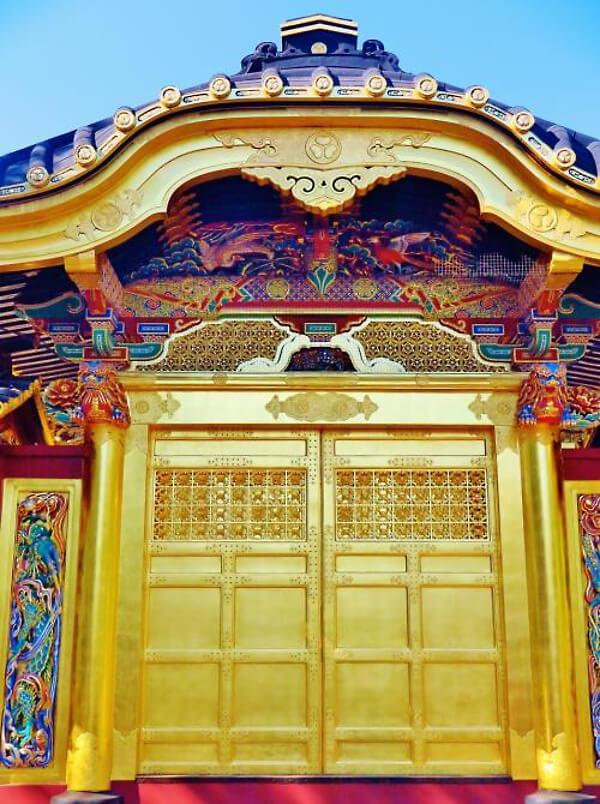 上野東照宮の唐門の画像