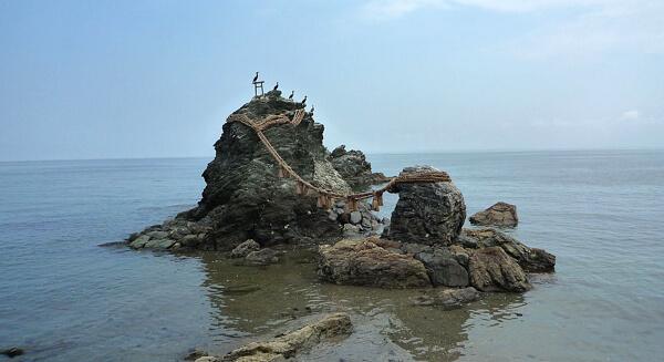 夫婦岩の写真