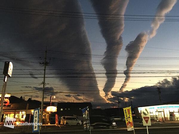 岩手県~宮城県に出現した雲の画像
