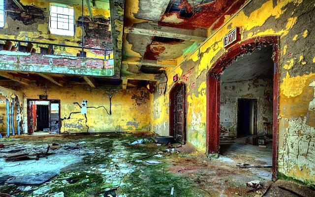 廃屋の写真