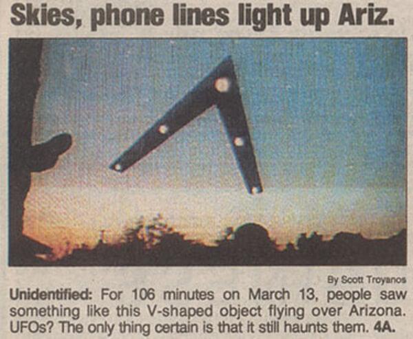 フェニックス上空に出現したFOの写真
