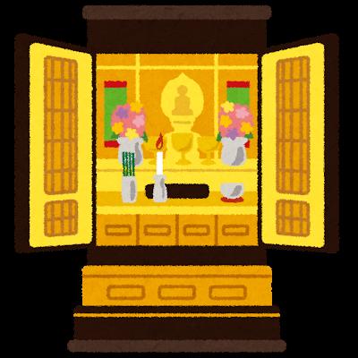 仏壇のイラスト