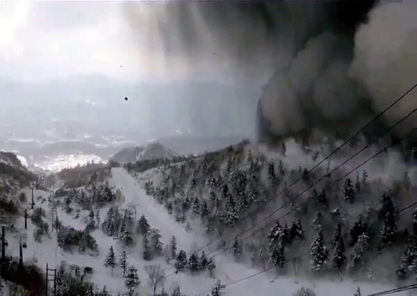 草津白根山噴火の写真