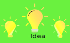 アイディアのイラスト