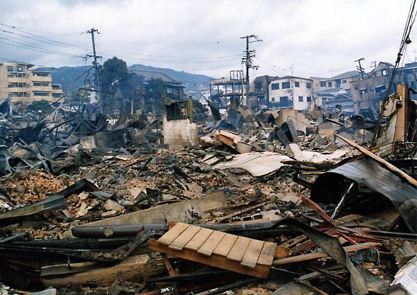 阪神淡路大震災で甚大な被害が出た兵庫県