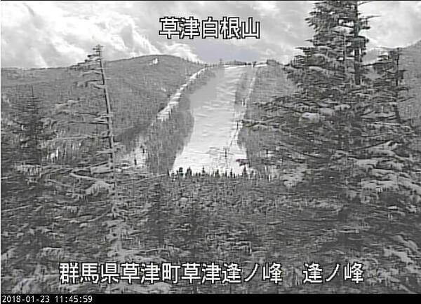 草津スキー場の雪崩の様子