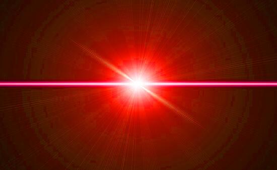 赤い光のイメージイラスト