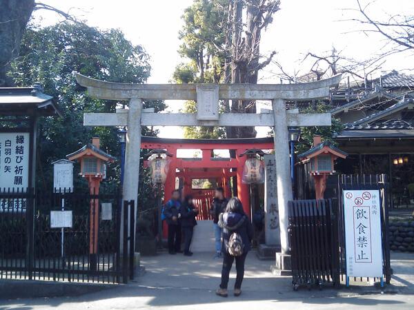 花園稲荷神社の鳥居1
