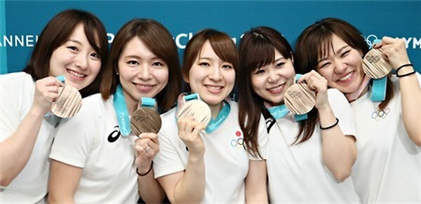 日本女子カーリングチームの写真