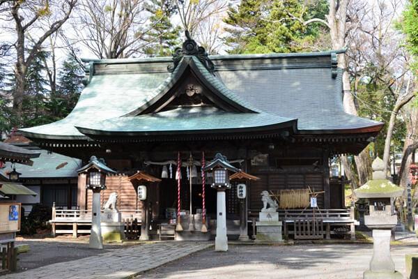山梨県の小室浅間神社の写真