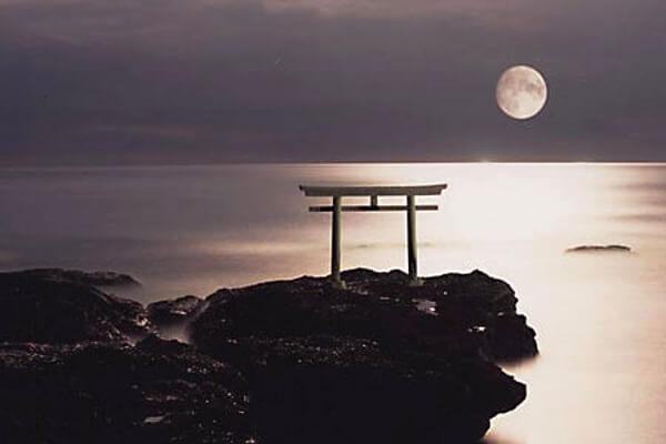 大洗磯前神社の鳥居の写真