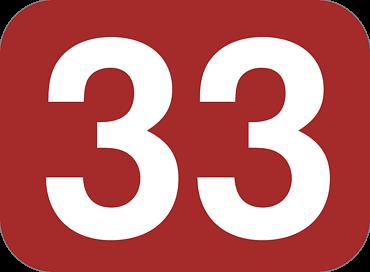 ナンバー33のイラスト