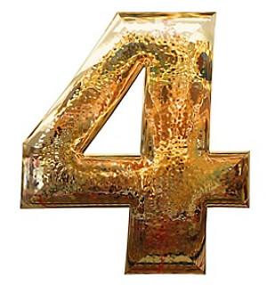 ナンバー4の数字