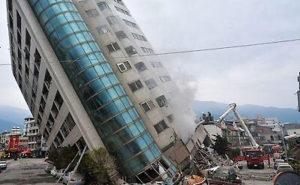 台湾地震の写真