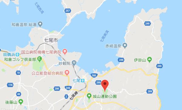 石川県の希望の丘の地図