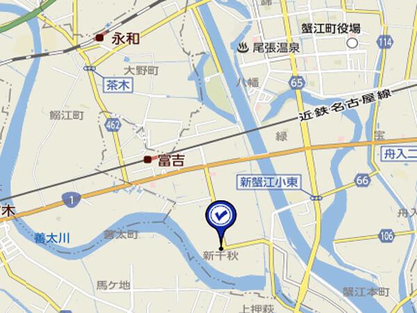 愛知県の希望の丘広場の地図