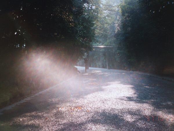 伊勢神宮の内宮一之鳥居の辺りの写真