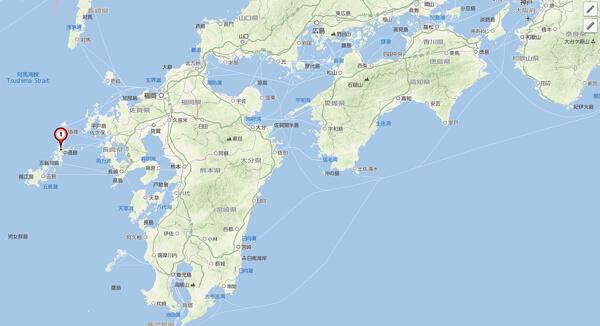 九州周辺の地図