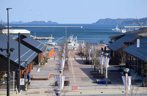 女川駅の街の景色の写真