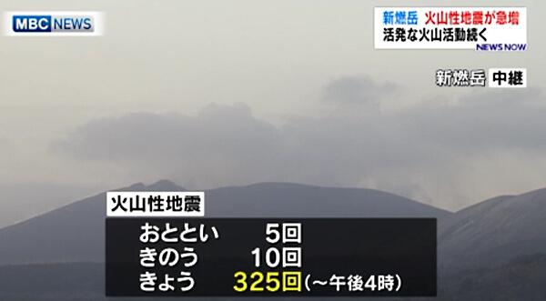 新燃岳のニュース画像