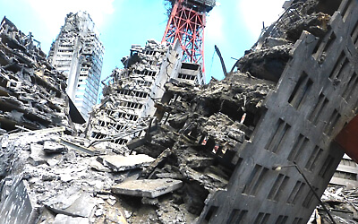 東京都の商業ビルなどが震度6強の地震で「倒壊・崩壊」の危険性が高い~紀伊国屋書店などの有名ビルも~