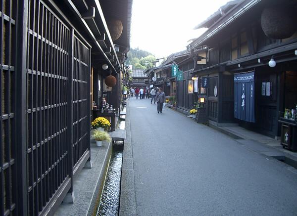 岐阜県の飛騨高山の街並みの写真