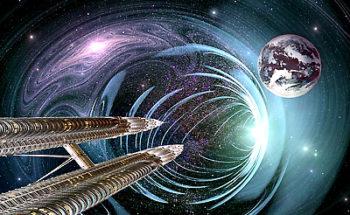 宇宙のワームホールのイラスト