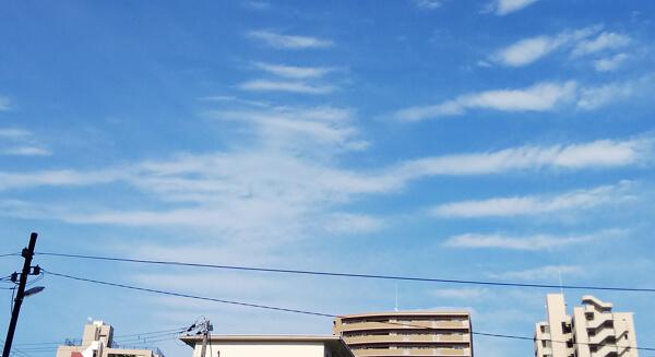 地震雲の投稿写真(大阪編2)
