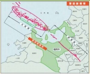 九州の断層の地図
