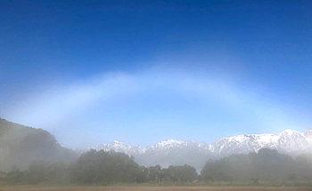 白虹現象の写真