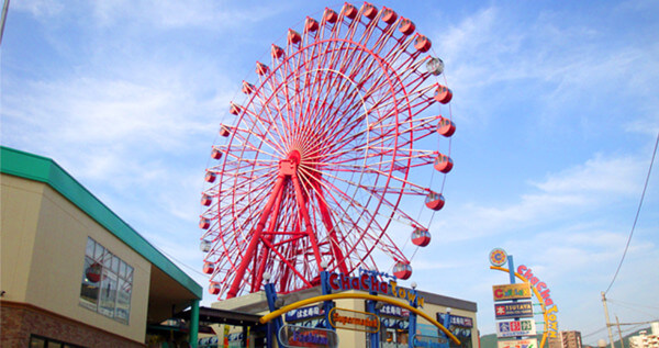 福岡マリノアシティの観覧車の写真