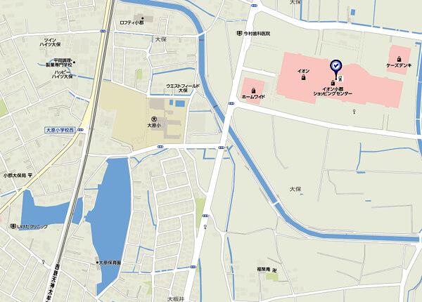 福岡県小郡市の地図