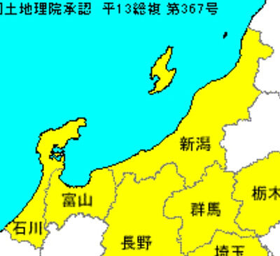 新潟県富山県周辺の地図