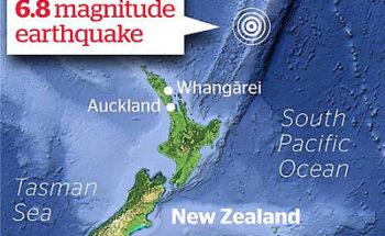 ニュージーランドの大地震の画像